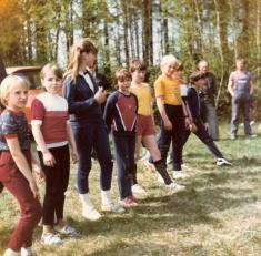 Historicky první soutěž dětského družstva - Hvozd 1986